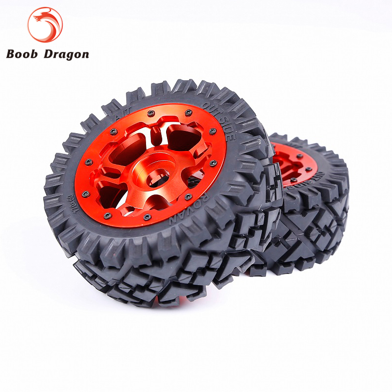 все цены на Baja Front Full Terrain tTyres set with CNC Alloy Front Wheels hub for 1/5 HPI Baja 5B SS Rovan King Motor онлайн