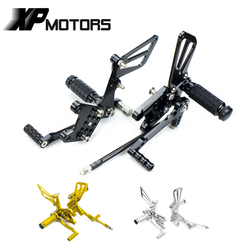 NICNCNC Racing Foot Pegs Footrests Footpegs Rear Sets Adjustable Mounts For Suzuki SV650SA ABS SV650A SV650S SV650 2003 2011-in Foot Rests from Automobiles & Motorcycles    1