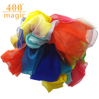 Silk scarf blossoming rainbow silk towel falls water over the rainbow silk scarf stage magic prop 400magic trick