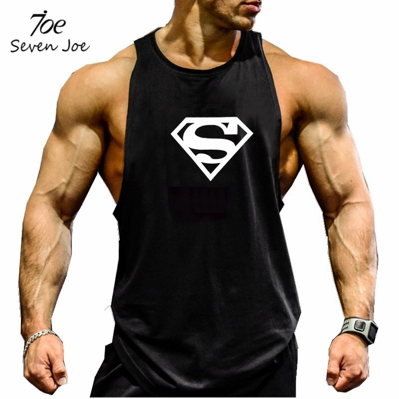 640bc8980d97bd ... gym-clothing-Bodybuilding-Fitness-Men-Tank-Top-Golds- SUPER WHITE