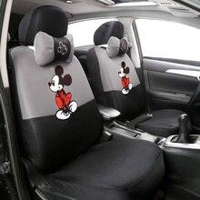 12 шт. милый мультяшный универсальный чехол для автомобильных сидений Микки чехлы для сидений салонные аксессуары сэндвич-ткань защита для автомобильных сидений