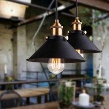 Lámpara de techo de hierro retro nórdico con luz vintage negra, lámpara edison, jaula metálica para comedor lw5131044py