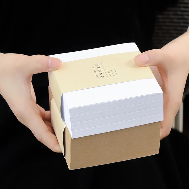 (400 sheets/pack) Creative Kraft Paper Memo Pad Journal Stickers