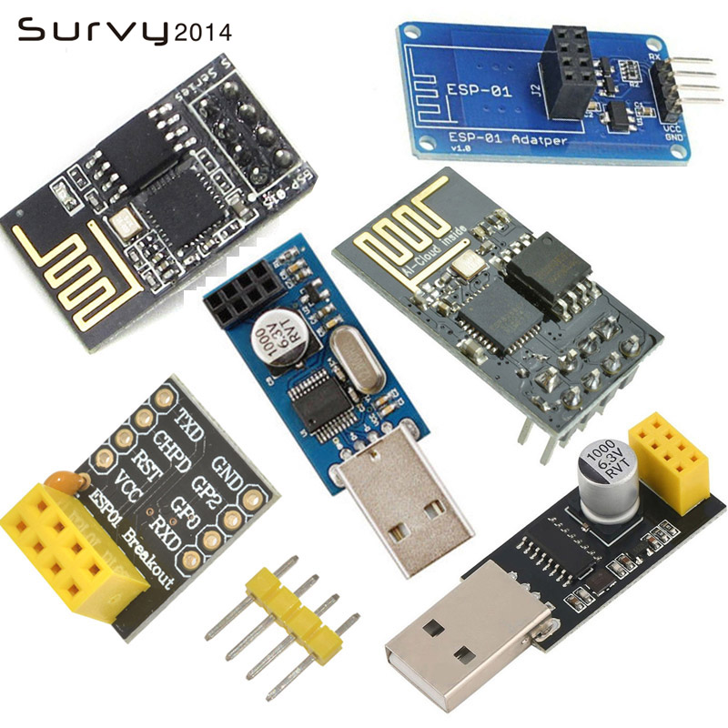 USB to <font><b>ESP8266</b></font> WIFI module ESP-01 ESP-01S Remote Serial Port WIFI Sensor Transceiver Wireless <font><b>Board</b></font> V1.0 Breakout PCB <font><b>Adapter</b></font> image