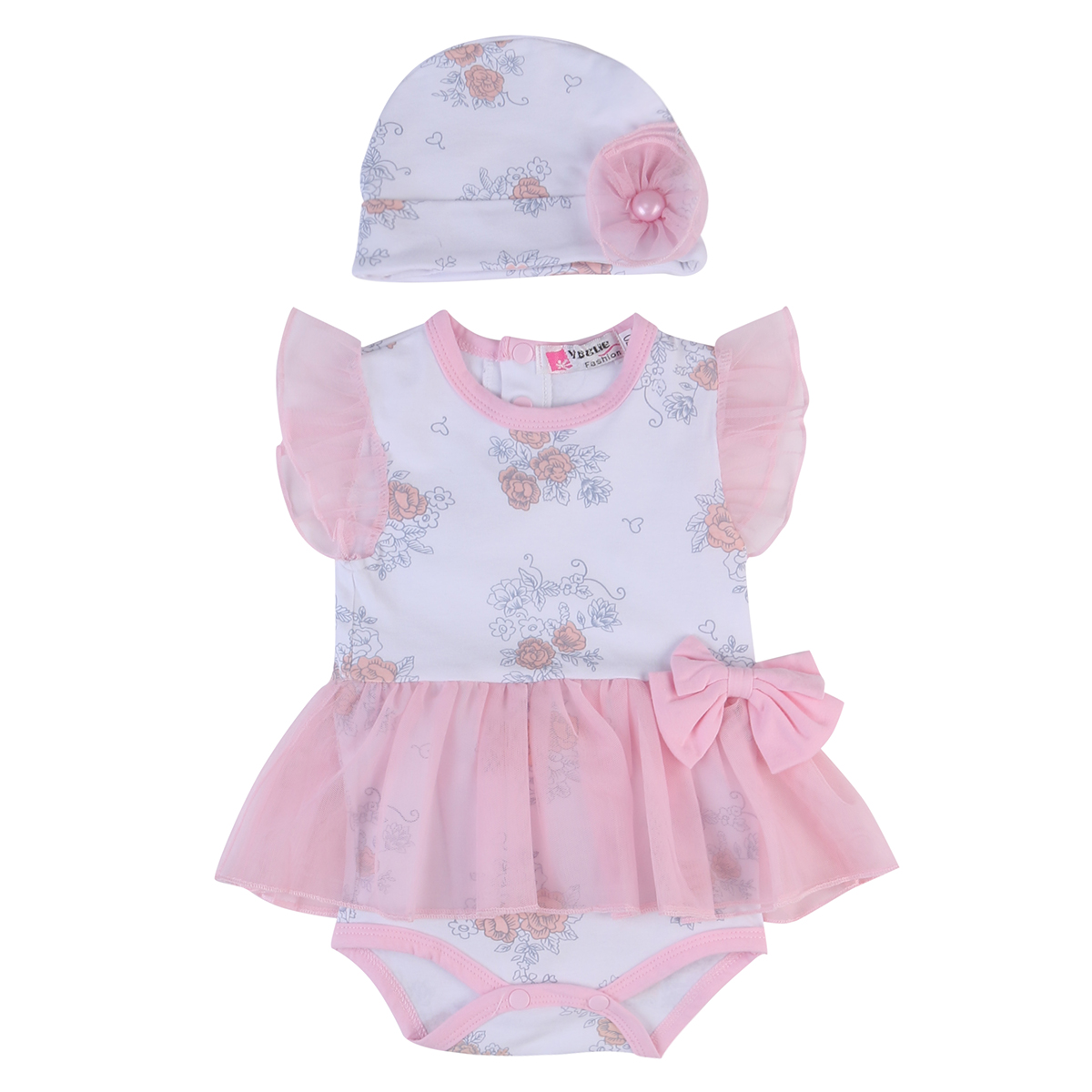 Newborn Baby Girl Clothes Flower Jumpsuit Romper Bodysuit + Headband Outfits Baby Girls Summer Clothes Set fashion 2pcs set newborn baby girls jumpsuit toddler girls flower pattern outfit clothes romper bodysuit pants