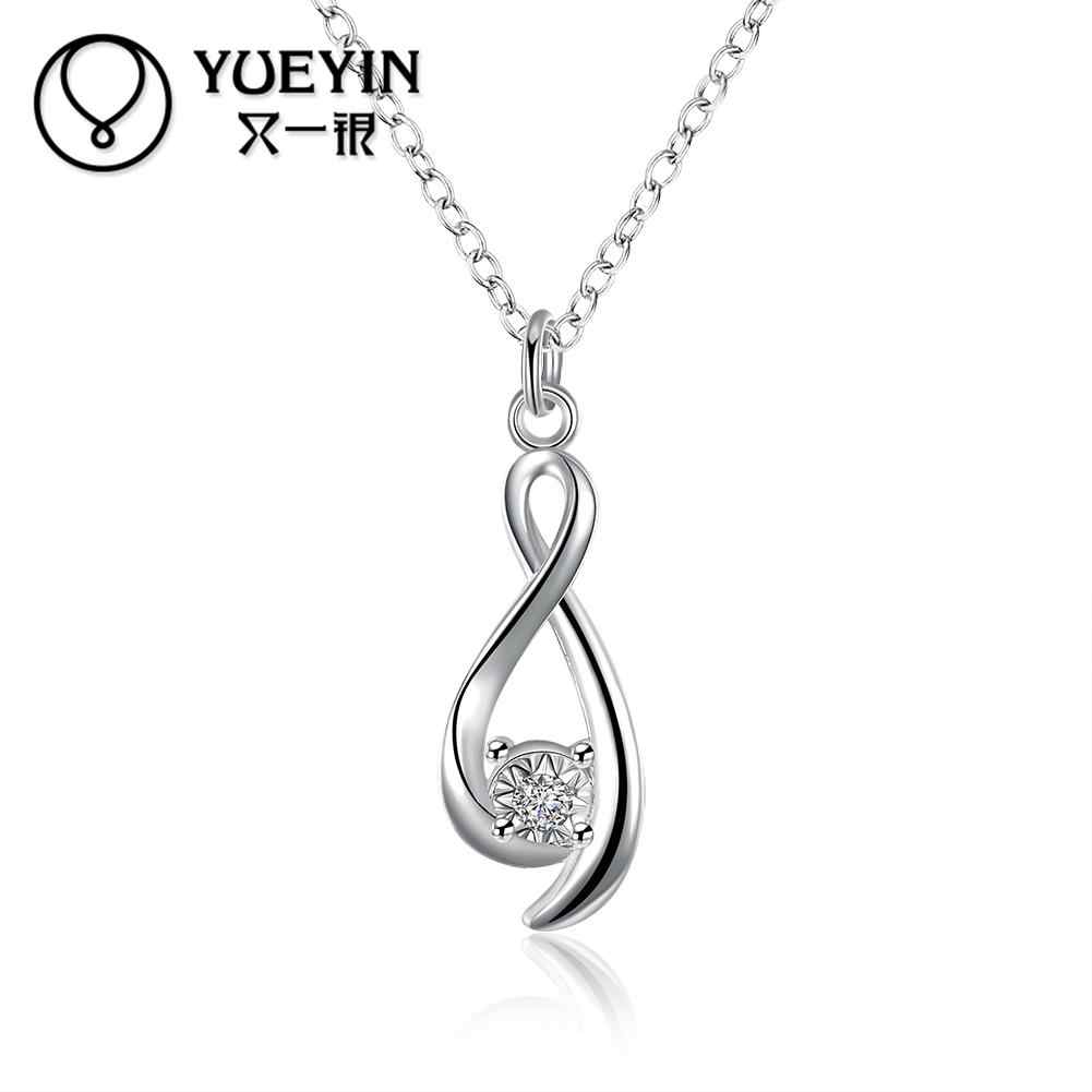 Women's Jewelry Silver plated Necklace Engagement jewelry choker necklace Christmas gifts High Quality gift