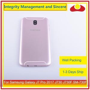 Image 5 - מקורי עבור Samsung Galaxy J7 פרו 2017 J730 J730F SM 730F שיכון סוללה דלת מסגרת חזרה כיסוי מקרה פגז מארז