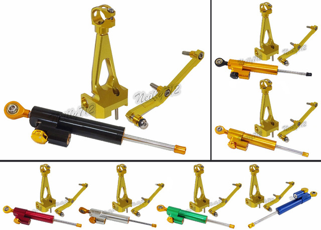 Motorcycle CNC Steering Stabilizer Damper Mounting Bracket Kit Full Set For Yamaha MT-09 FZ-09 MT09 2013 2014 2015 2016