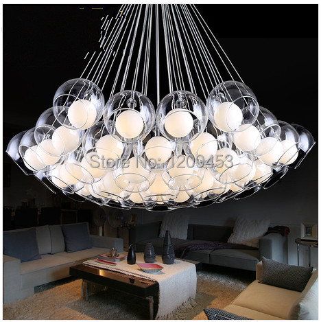 art personality glass ball pendant light modern minimalist stylish living room lights creative. Black Bedroom Furniture Sets. Home Design Ideas