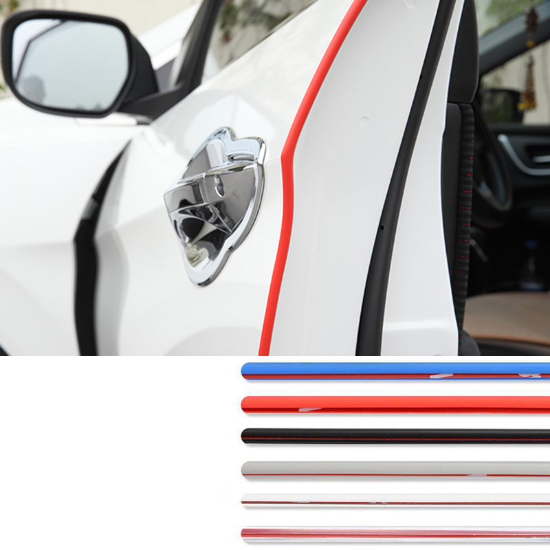 Auto Front Bumper General Car Rubber Bumper Strip Protection Sticker Car Door Side Decorative Tape Vehicle Exterior Accessories