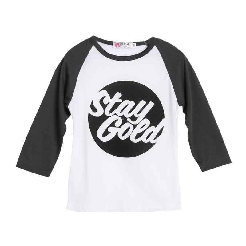 Baby Kid Shirt Tops Bonito Letras Crianças Raglans Designer Unisex Da Criança Do Bebê Roupas de Algodão de Manga Comprida T Camisas Dos Miúdos Roupas