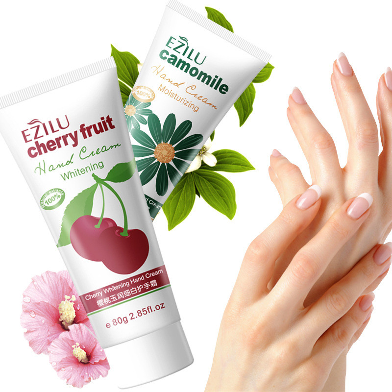 1pcs 80g Cherries Whitening Camomile Moisturizing Hand Creams Lotions Hydrating moist types the chamfer hand cream for Hand Care 6