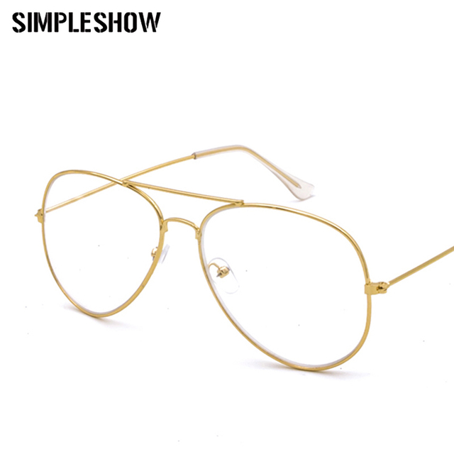 SIMPLESHOW mujeres piloto gafas lente transparente para señora Full ...