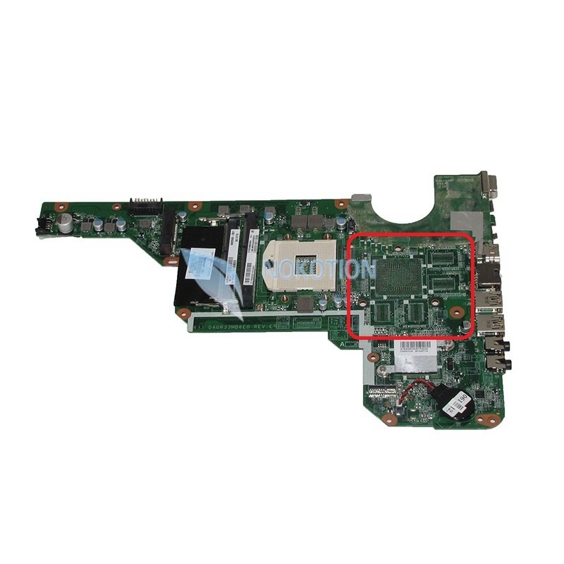 NOKOTION 680568-001 DA0R33MB6E0 laptop motherboard For HP Pavilion G4-2000 G6-2000 intel HD GMA HD4000 Mainboard Full test nokotion 636373 001 da0r13mb6e0 mainboard for hp pavilion g4 g6 g7 laptop motherboard hm65 intel hd gma ddr3 works