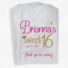 На заказ на день рождения сладкий тиара Корона Свадебные попкорн Конфеты стол Лечить Сумки Свадебный Baby Shower Bakery Cookie Подарок Сувениры Сумки