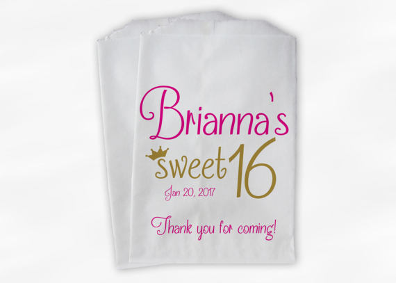 893c7c26d8fb custom BIRTHDAY sweet tiara crown wedding popcorn candy Buffet treat bags  Bridal baby Shower Bakery Cookie gift Favors pouches-in Gift Bags   Wrapping  ...