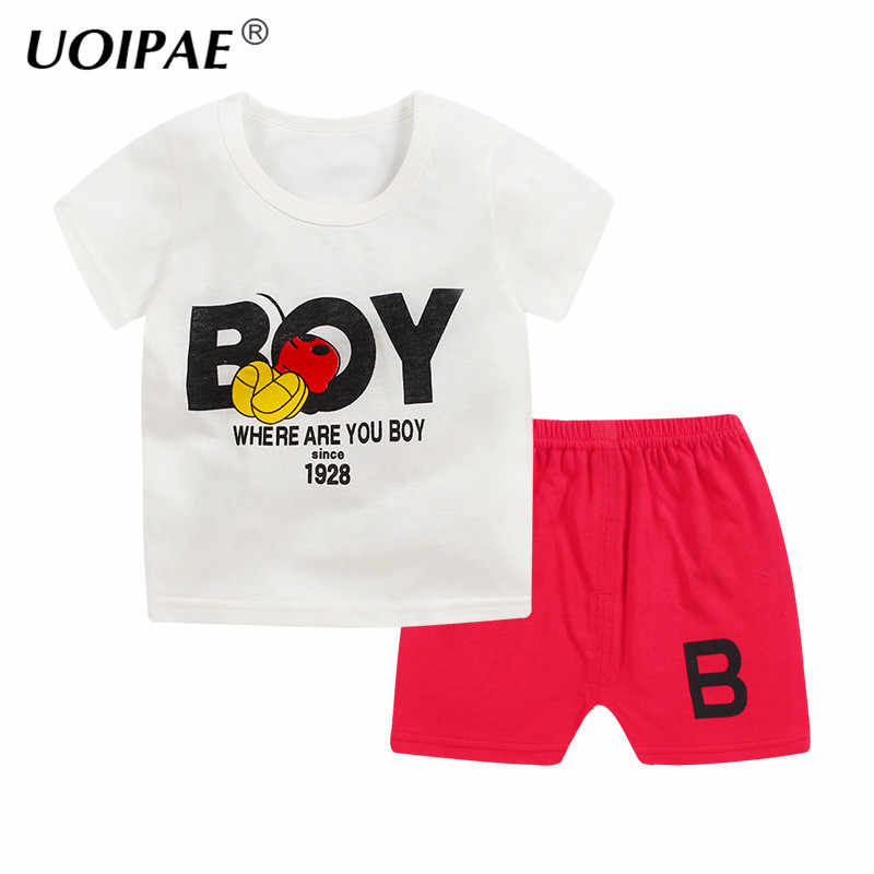 c32a5b35d3b3 2018 Boys Clothes Bicycle T-shirt + Shorts Toddler Girls Summer Clothing  Set Kids Animal