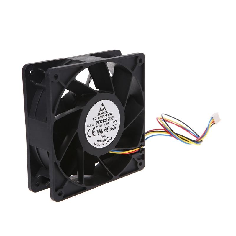 Ordenador ventilador de refrigeración de 120x120x38mm sin escobillas DC12V 4.8A 11-Hoja de ventilador de refrigeración 12038 Delta PFC1212DE