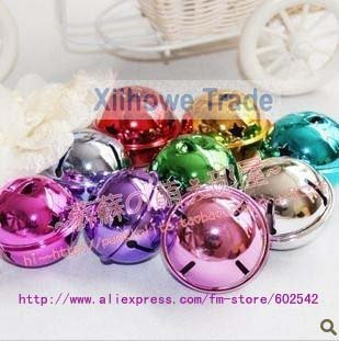 wholesale, free shipping, christmas  smoothing small colorful bell,  9 colors, diameter:2.5cm(1.2 in)
