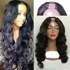 SimBeauty 100% Unverarbeitete Brasilianische Remy Haar Körper Welle U Teil Perücken 100% Menschliches Haar Mittleren Öffnen Perücke Mit Kämme Für schwarz Frauen