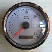 1pc Brand New Gasoline Diesel Engine Tachometers 3000RPM Revolution Mete 12v 24v Fit For Yacht Speed
