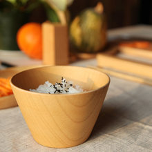 4.7 Inches Natural Solid Wood Bowls Handmade Wooden Bowl for Food Serving Needs Wholesale Tableware Japanese Soup bowls