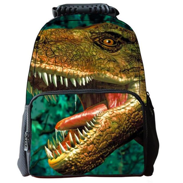 Dinosaurios fresco Personalidad Animales Niños Del Bolso de Escuela Los Estudiantes de Primaria Mochila Durable Multi-Funcional Bookbag A064