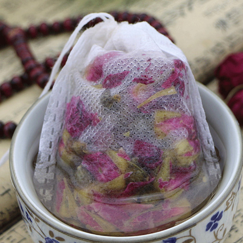 100Pcs/pack Disposable Tea bags Non-woven Fabrics Infuser Herbal Filter Strainer