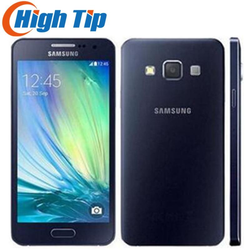 Sbloccato Originale Per Samsung Galaxy A3 A3000 A300F Quad-Core Android 4.5 Pollice 8 GB ROM 4G 8.0MP Fotocamera ristrutturato Cellulare