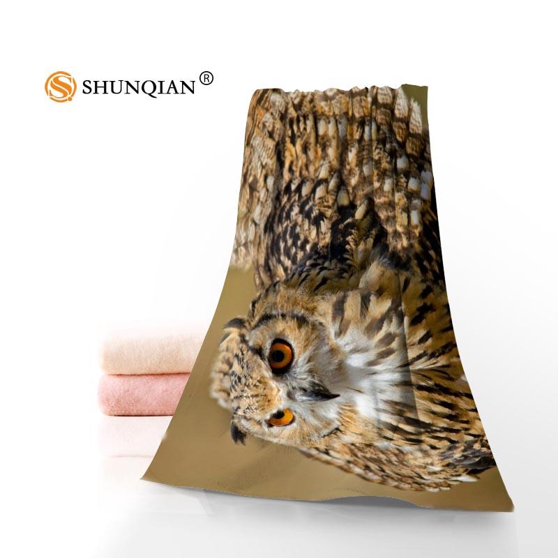 Personalizado búho 35x75 cm 70x140 cm Toallas facecloth Bañeras bambú Fibra washcloth secado rápido deportes toalla