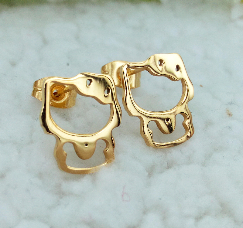 Stainless Steel Rose Gold/Gold/Silver Color Cute Hello Kitty Cats ...