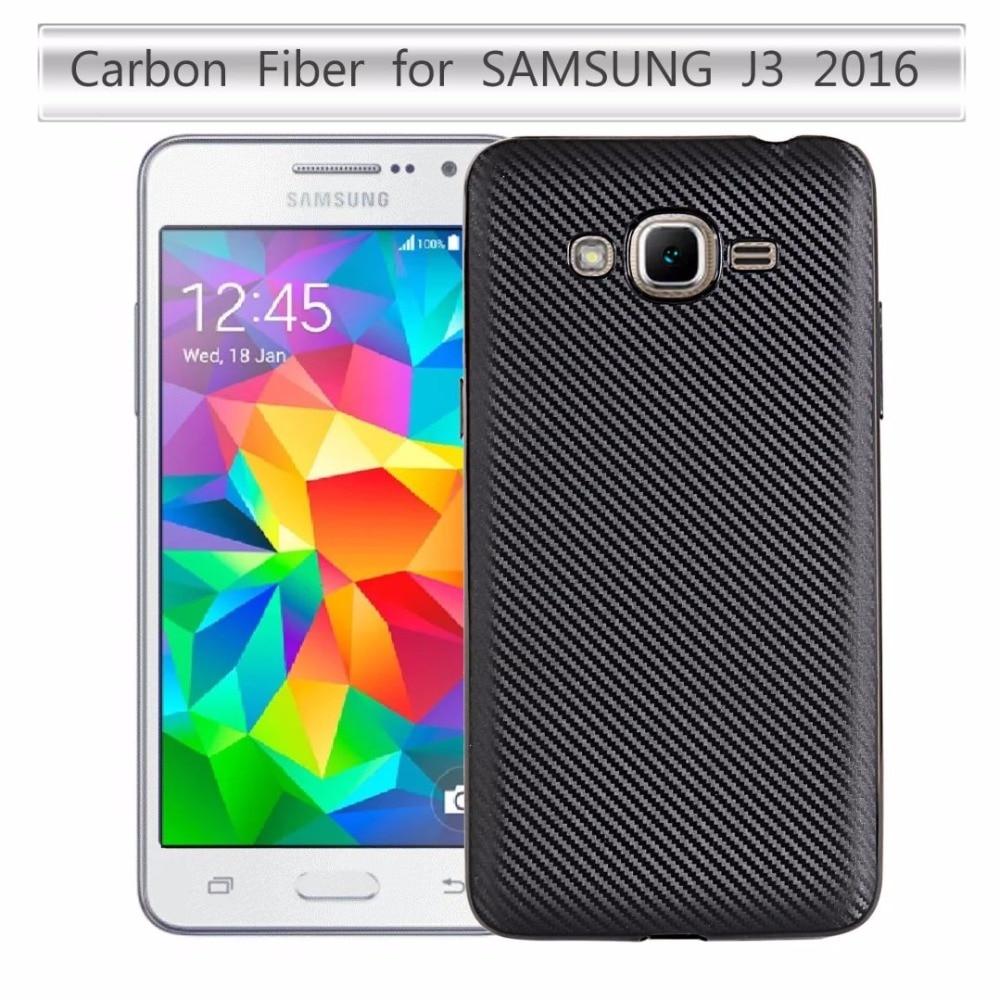 For Samsung Galaxy J3 J3109 5.0inch Case Carbon Fiber Soft Cover For Samsung Galaxy J3 2016 J320 J320F/A/M/Y/P Phone Case