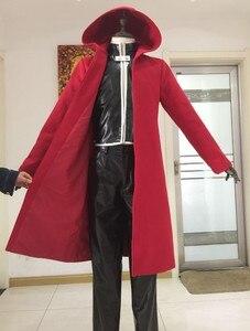 Image 4 - Anime Full Metal Alchemist Cosplay Edward Elric Costume FullMetal Alchemist hooded coat Custom Made