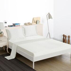 Image 1 - ソフトサテンシルクシーツ枕カバー寝具セットアメリカスタイル 3/4 本のベッドリネンツインフルクイーンサイズ寝具セット