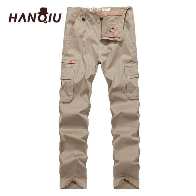 HANQIU Casual Trousers Cargo-Pants Military Male Tactical High-Quality Mens New-Arrival