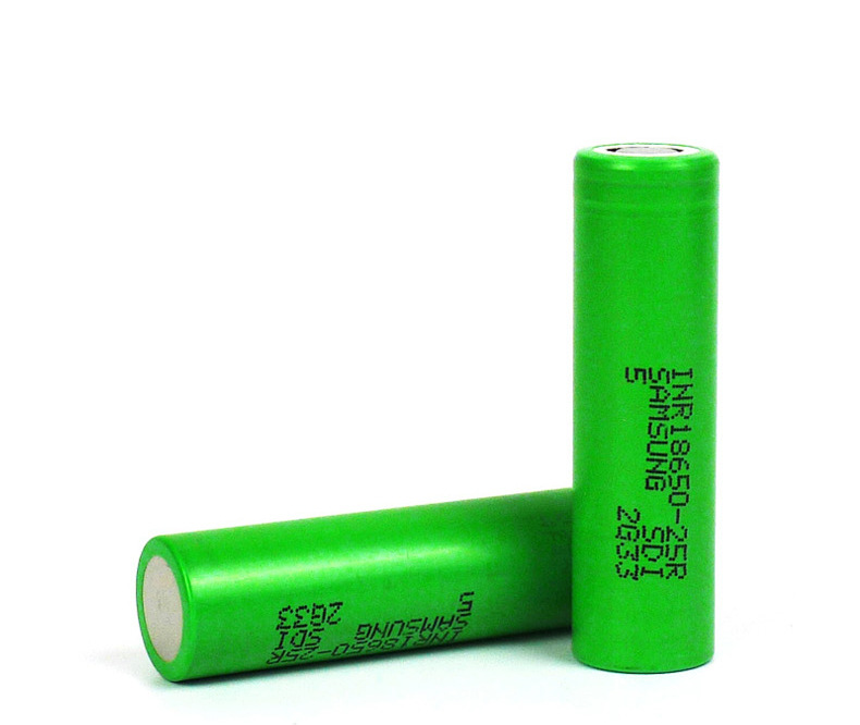 Dinto 2pcs for <font><b>Samsung</b></font> <font><b>25R</b></font> 2500mAh <font><b>18650</b></font> Li-ion Lithium Battery 3.7V Rechargeable Batteries for electronic cigarette image