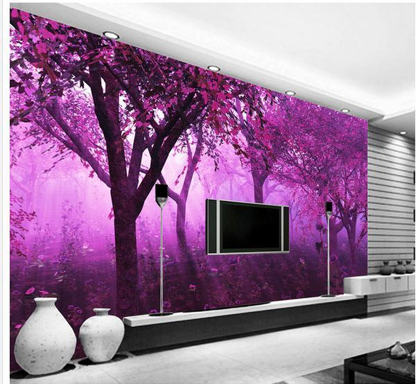 New Large Wallpaper Custom Wallpaper Purple Fantasy Forest