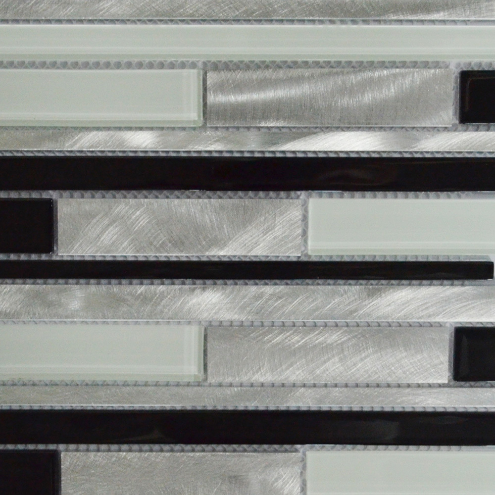Online Shop Black White And Silver Interlocking Metal Glass Mosaic Tile  Kitchen Backsplash Mosaic Bathroom Wall Tile MAG0026 | Aliexpress Mobile Part 98