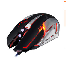 Gaming Mouse Wired LED Optical 3D Wheel USB Mouse for PC Computer Laptop for Metal Bottom