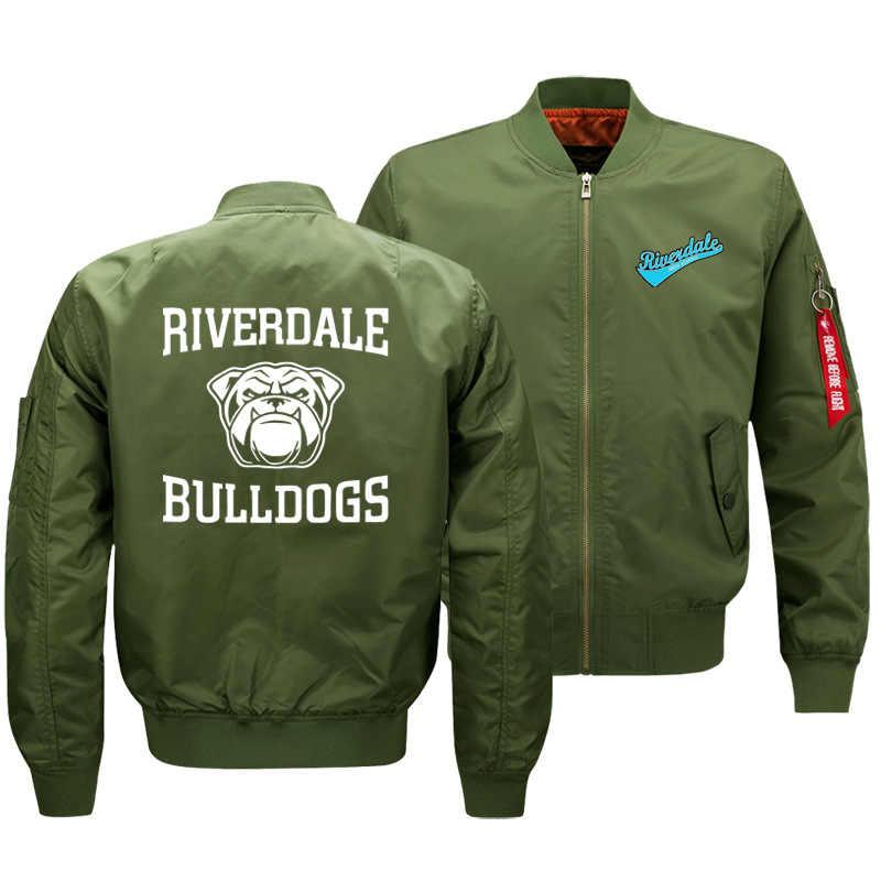 Ривердейл Чистый хлопок утолщенная летная куртка мужская осень зима хлопок Мода Кардиган настраиваемая куртка