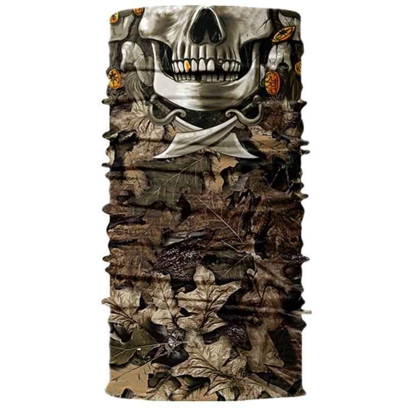 3D Череп Скелет бесшовная Бандана Балаклава головная повязка мотоциклетный головной убор Байкер волшебный платок труба Шея рыболовная вуаль маска для лица