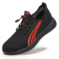 Summer safety shoes lightweight breathable mesh fashion safety shoes anti-smashing Casual Shoes deodorant work labor shoes