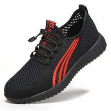Summer safety shoes lightweight breathable mesh fashion anti-smashing Casual Shoes deodorant work labor