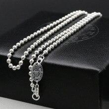 Мода приток людей ключицы цепи стерлингов серебряные бусы женский длинный абзац в стиле ретро панк Цепочки и ожерелья мужской