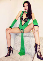 Cosplay Sexy Green Bodysuit Outfit Women S Bar Team Dancer Costume Stage Show Nightclub Party Singer