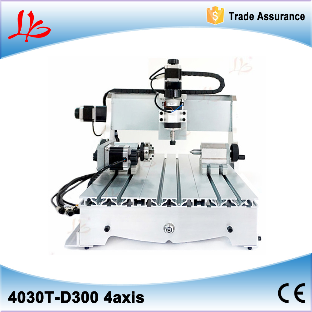 CNC 3040 4 AXIS MINI CNC Router 300W Metal Engraving machine with ball screw no tax to Russia russia no tax 1500w 5 axis cnc wood carving machine precision ball screw cnc router 3040 milling machine