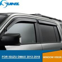 Оконный козырек для isuzu DMAX 2012-2018 боковые оконные дефлекторы защита от дождя для Chevrolet Isuzu DMAX 2012-2018 SUNZ