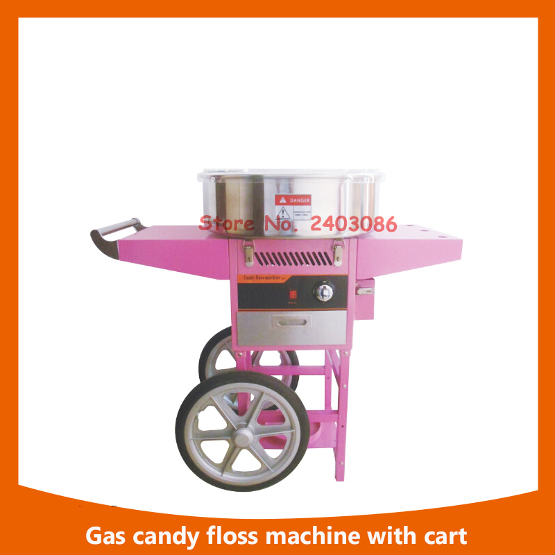 high efficiency catering equipment automatic GAS sugar Cotton Candy Floss maker vending Machine with cart small condoms vending machine with coins acceptor with 5 choices
