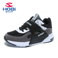 Children Sneakers Boys Girls Running Trainers lether Hook loop Anti slippery Breathable Basketball Kids Shoes HOBIBEAR AS3391