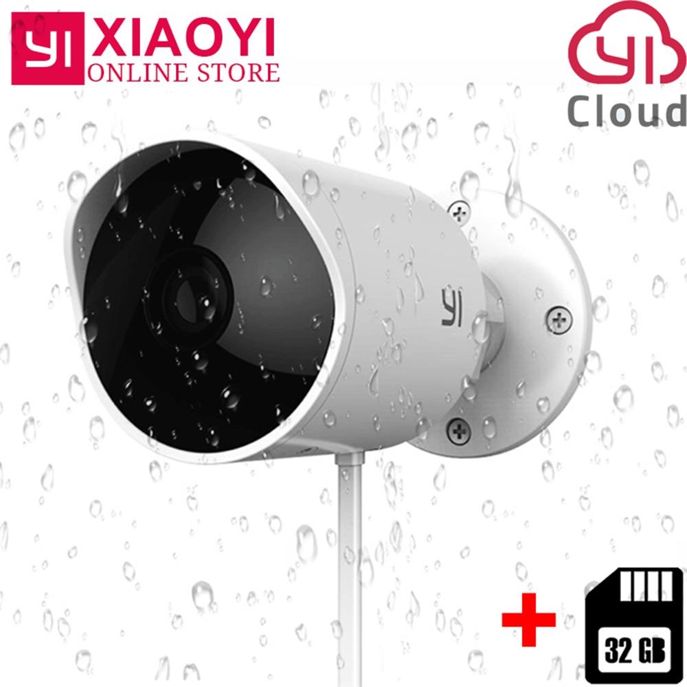 Xiaomi YI caméra de sécurité extérieure 1080PHD caméra IP sans fil caméra nuage caméra étanche Vision nocturne Surveillance de sécurité Wifi Webcam